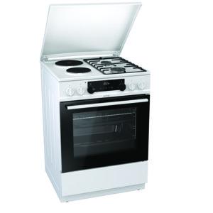 Готварска печка (ток/газ) Gorenje K6351WF , 2 газ 2ток , 600/850/600 ш/в/д mm, 65